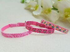 """Cutie Pie Pink Dog/Puppy/Chihuahua Collar And Charm.Sizes 6-8"""" or 8-10"""""""