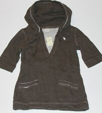 ABERCROMBIE by Hollister Womens Classic Fleece Hoodie Shirt Pullover Jumper M,L
