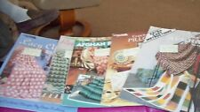 Leisure Arts crochet Afghans and Pillow Pattern Leaflets - U-PICK 1 FROM 5
