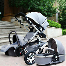 Luxury Baby Stroller 3 in 1 High Landscape Pram foldable pushchair Car Seat new