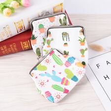 Lovely Cactus Bag Hasp Coin Purses Wallet Change Pouch Key Holder Small Purse