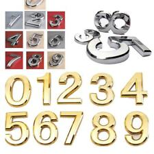 STICKY SELF ADHESIVE VINYL NUMBERS 0-9 DECALS STICKERS SILVER or GOLDEN