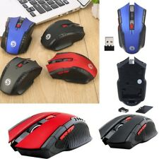 2.4Ghz Mini 6KEYS Wireless Optical Gaming Mouse Mice& USB Receiver For PC Laptop