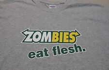 ZOMBIES - Eat Flesh- Funny Subway Spoof  Heather Gray T-Shirt