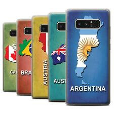 STUFF4 Gel/TPU Case/Cover for Samsung Galaxy Note 8/N950/Flag Nations