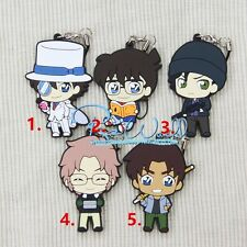 DETECTIVE CONAN Keychain Rubber Strap Phone Charm Japan Anime Figure Pendant New