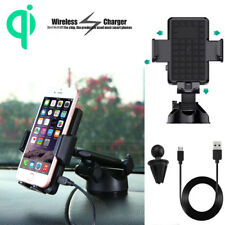 Fast Qi Wireless Car Charger Air Vent Mount Holder for Samsung Note8 S8 iPhone X