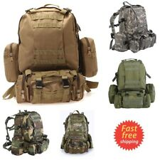 50L Military Tactical Assault Pack Backpack Army Molle Bug Out Backpacks Outdoor