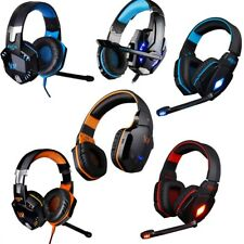 Surround Sound Stereo USB Gaming Headset w Mic LED Headphones Computer PC Tablet