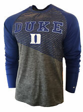 Colosseum Men's Duke University Blue Devils Raglan Reflective Dri Fit Tee