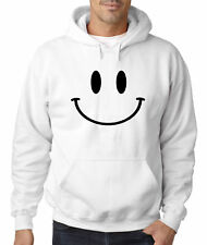 New Way 849 - Adult Hoodie Smiley Face Emoticon Emoji Happy Smile
