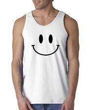 New Way 849 - Men's Tank-Top Smiley Face Emoticon Emoji Happy Smile
