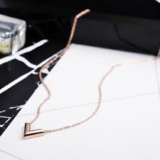 Women Fashion Gold And Rose Gold Plated Stainless Steel Pendant Necklace