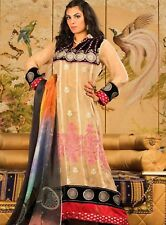 Pakistani Dress Latest Suit Shalwar Kameez Designer Suits Stitched Chiffon Beige