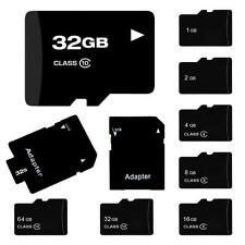 New Lot TF SD Card 32/16/8/4/2GB TF Flash Memory Card With Adapter Class 4-10