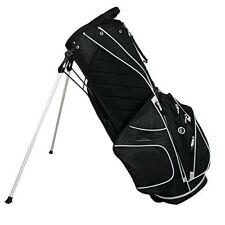 Golf Stand Bag Club Carry Organizer 5 Pockets Storage Stand Bag Black White NEW