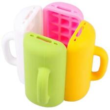3D Mug Cup Design Silicone Skin Stand Soft Back Case Cover For iphone 4 4S
