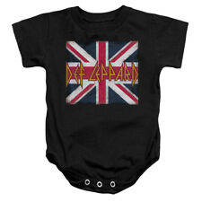 Def Leppard Rock Band UNION JACK Licensed Infant Snapsuit S-XL