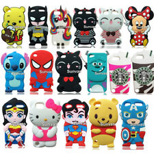 For Apple iPod Touch 5 Touch 6 3D Cute Cartoon Soft Silicone Case Cover Skin
