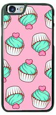 Blue Red Hearts Cupcakes Phone Case Cover for iPhone 7 Samsung s8 LG HTC etc