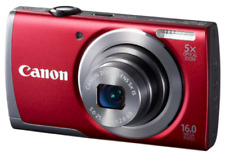 Canon PowerShot A3500 IS Red 16MP Digital Camera with 5x Optical Zoom 3-in LCD