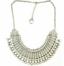 Vintage Silver Color Plated Alloy Metal Link Chain Necklaces For Women
