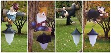 Solar Powered Garden Ornament Tree Fence Decoration Light Cheeky Monkey Or Gnome