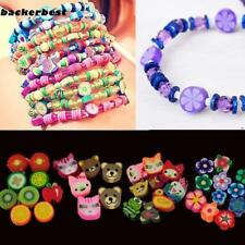 100 PCS Clay Beads DIY Slices Mixed Color Fimo Polymer Clay B77K 01