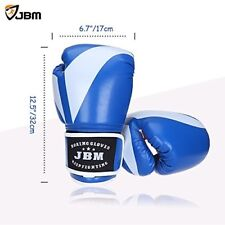 Blue Boxing Gloves Training Kick Boxing Sparring MMA TKD Punching Box Gloves NEW