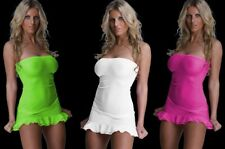 sexy ruffle babydoll gogo dress negligee Club Dress Mini Dress Neon S M L XL XXL