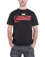 The Avengers T Shirt Marvel Comics Distressed Logo Official Mens New Black