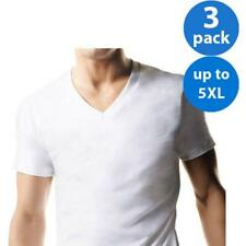 Hanes Big and Tall Mens Classic V Neck Short Sleeves T Shirt Outwear 3 Pack NEW