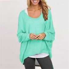 Women Fashion O Neck Long Sleeve Loose Spring Autumn Wear Top Plus Size