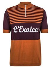 Santini Dark Red 2015 Eroica Gaiole Event Series Short Sleeved Cycling Jersey