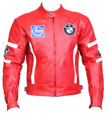 BMW Red Motorcycle Sports Leather Biker Jacket Motorbike Racing Leather Jacket