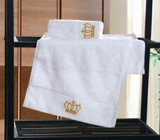 Bath Towels Set Cotton Embroidered Hand Guest Crown Floral Body Cover Applique