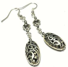 Antique Style Silver Earrings Pierced or Non-Pierced Clip Stud or 925 Silver
