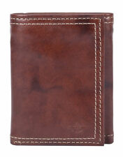 New Dockers Men's Leather Interior Zipper Trifold Wallet
