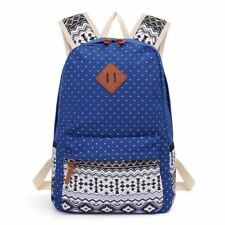 New Stylish Polka Dot Printing Canvas Material Laptop Backpack For Girl