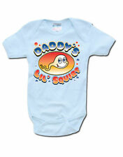Funny Cute Slogan Baby Grow Daddys Little Squirt Official Babies Sky Blue Vest