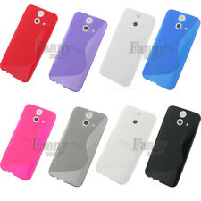 S-line Gel TPU Skin Cover Case for FOR HTC ONE (E8)