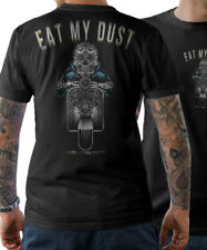 T-Shirt - Eat My Dust - Roller Skull Moped Scooter Rider Club Skull Fun S-5XL