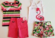 Gymboree Palm Beach Paradise Striped Top, Pink Shorts 2 pc. SET 6