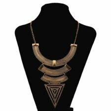 Women New Fashion Metal Triangle Sape Multi Layer Vintage Choker Necklace