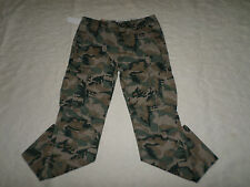 LEVI'S CARGO PANTS MENS RELAXED FIT SIZE 34X30 GREEN CAMO ZIP FLY NEW WITH TAGS