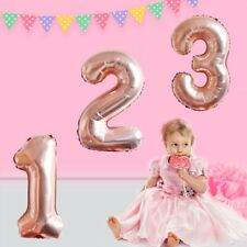 40 inch Giant Rose Gold Foil Age Balloons Boy Girl Birthday Wedding Party Supply
