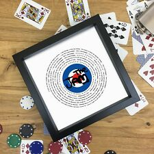 The Who Fan Gift Vinyl Record Print or Fully Framed 7 or 12 inch ANY SONG