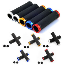 DOUBLE LOCK ON LOCKING BMX MTB MOUNTAIN BIKE CYCLE BICYCLE HANDLE BAR GRIPS