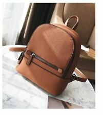 Pu Leather Zipper Closure Accurate Shoulder Strap Casual Backpack For Teenager