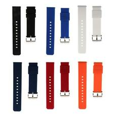 Sports Smart Watch Quick Release Pins Rubber Silicone Band Strap 18mm/22mm Band
